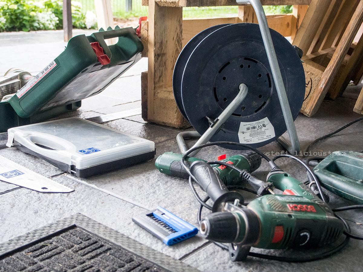 Palettensofa Werkzeug