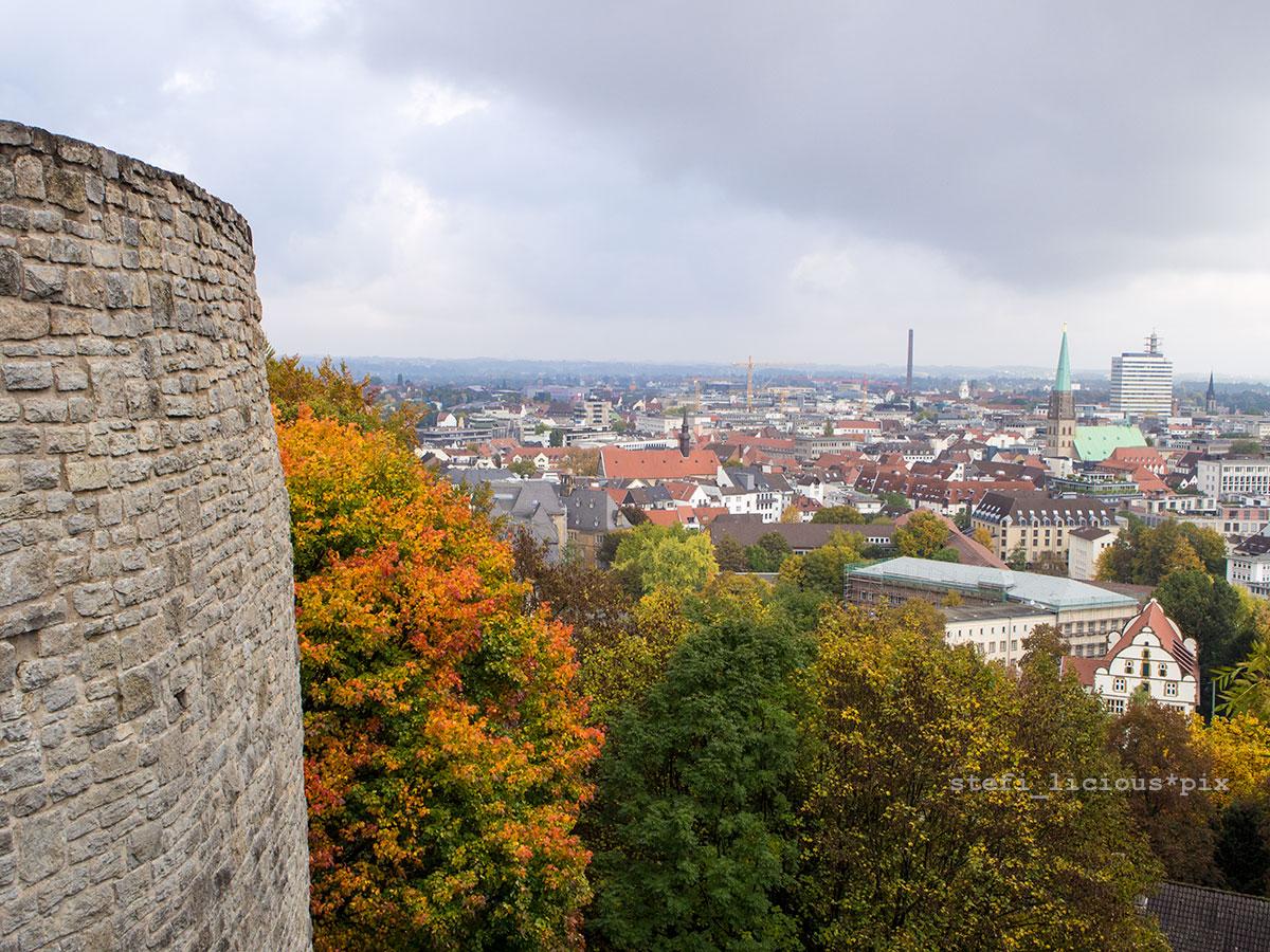 Bielefeld Blick ueber die Stadt